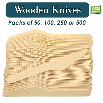 Disposable Wooden Knives Heavy Duty Eco-Friendly Utensils